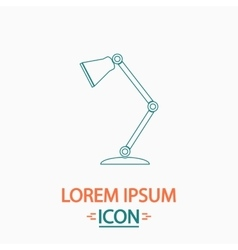Table lamp computer symbol vector