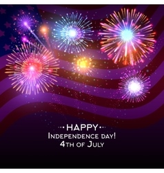 USA independence day poster with fireworks vector image vector image