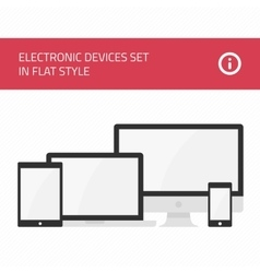 Electronic devices set flat style vector image