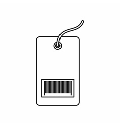Tag with bar code icon outline style vector