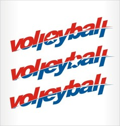 Volleyball logo volleyball word text vector