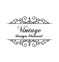 Decorative vintage and classic design element vector