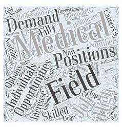 Careers in medical field word cloud concept vector