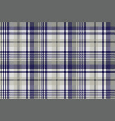blue gray check textile seamless pattern vector image