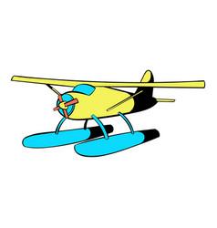 hydroplane icon icon cartoon vector image