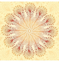 Vintage beige abstract peacock feathers background vector image
