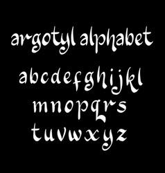 Argotyl alphabet typography vector