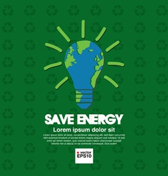 Save energy conceptual vector image