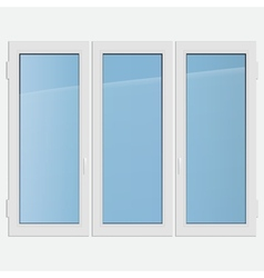 Triple casement plastic window vector