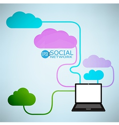 Template design Cloud and Notebook vector image