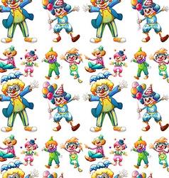 Seamless clowns vector image