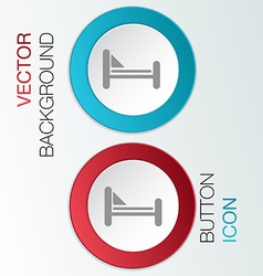 Bed symbol sign vector