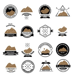 Set of expedition badges vector