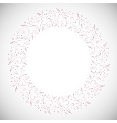 Heart border frame vector