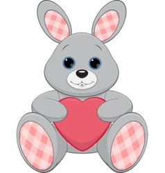 Cute plush bunny vector