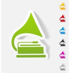 Realistic design element gramophone vector
