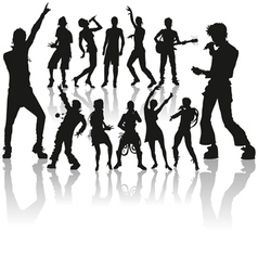 Dancing and singing people vector