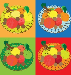 autumn fruits series vector image