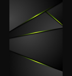 Black corporate background with green glowing vector
