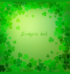 clover leaves with space for text vector image vector image