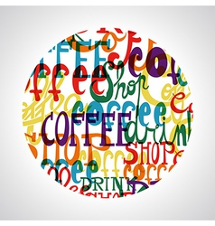 Coffee circle shape vector image vector image