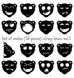 Crazy bear vector