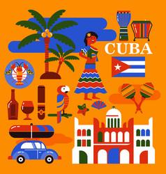 cuba travel vector image vector image