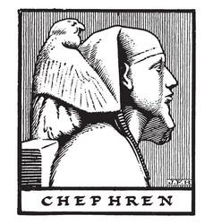 Egyptian pharaoh chephren vintage vector