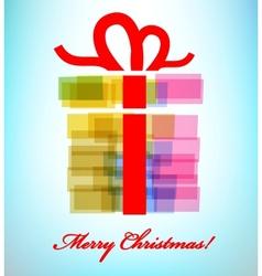 gift box with ribbon vector image vector image