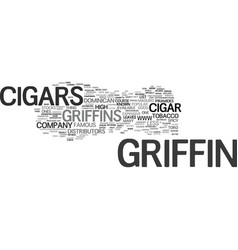 Griffin cigars text background word cloud concept vector