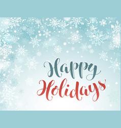 Happy holidays greeting card vector