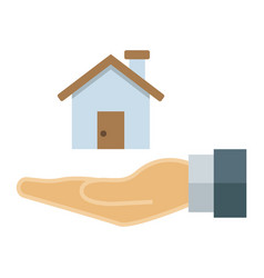 Home in hand flat icon business and finance buy vector