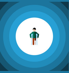 isolated disability flat icon injured vector image