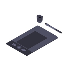 Isometric graphic tablet vector image vector image