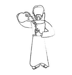Jesus christ miracle devotion sacrifice vector