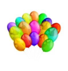 Multicolor balloons on white background vector image vector image