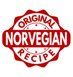 Original norvegian recipe grunge rubber stamp vector