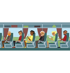 Passengers travelling by bus vector image