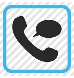 Phone message icon in a frame vector