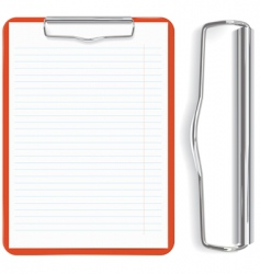 red clipboard vector image vector image