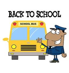 School bus cartoon vector image vector image