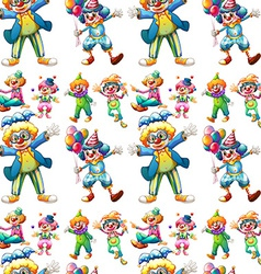 Seamless clowns vector image