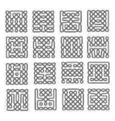 Set celtic or scandinavian element of pattern vector