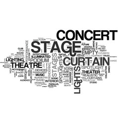 stages word cloud concept vector image vector image