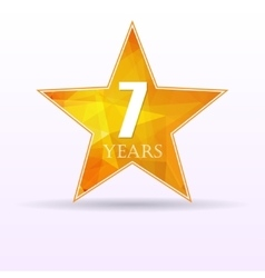 Star background anniversary 7 vector image vector image