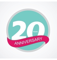 Template logo 20 anniversary vector