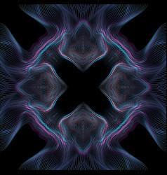 Warped parametric glitch background vector