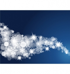 winter snowflake background vector image