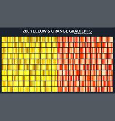 yellow orange chrome gradient setpattern vector image