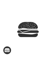 Hamburger icon isolated burger pictogram vector